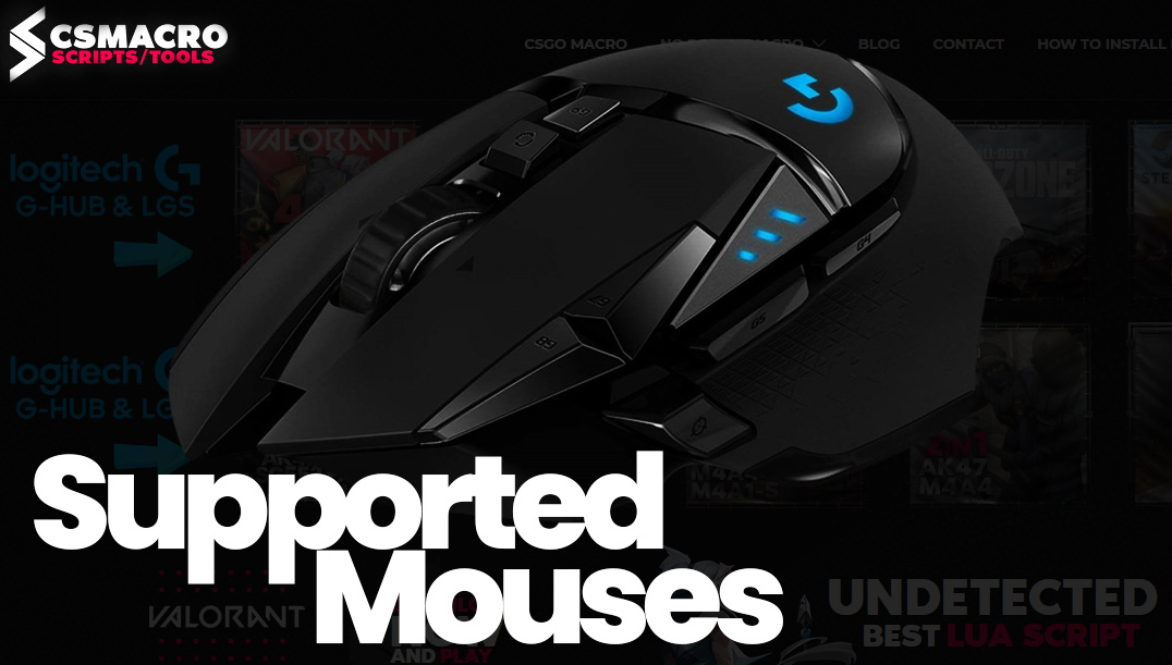 Logitech Lua Script Supported Mouses NoRecoil Macro Spray