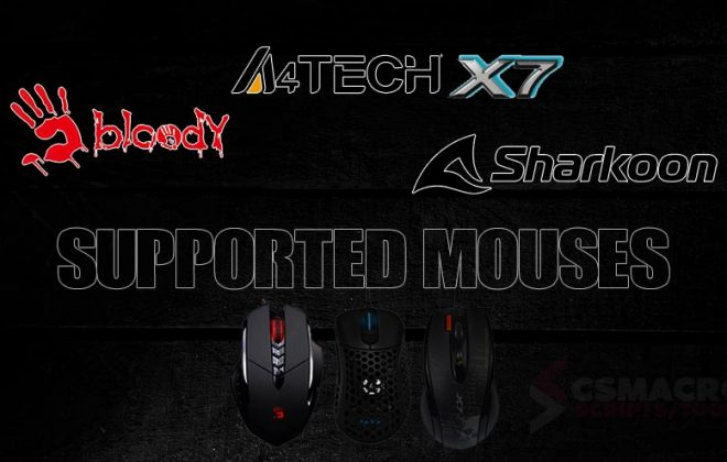 A4Tech X7 – Bloody – Sharkoon  Supported Mouses No Recoil Macro Script
