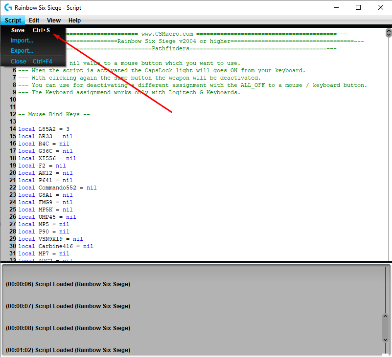How To Install Rainbow Six Siege No Recoil Macro Script  G-Hub